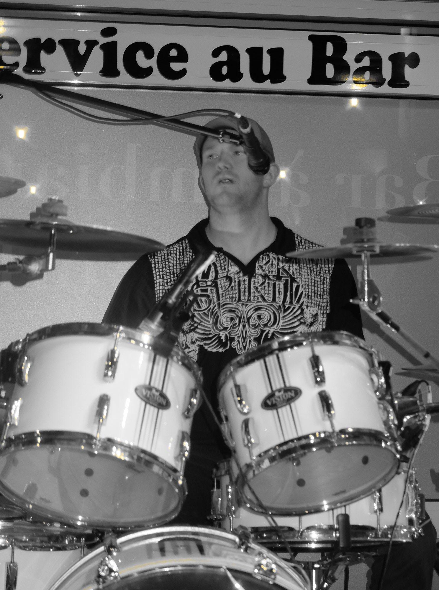 Cedric on drums